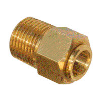 Connector male 1/2 for tube 1/2-0