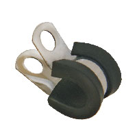 3/8 Tubing S.Steel Clamp - BLACK-0