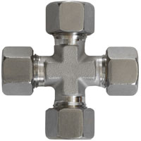 CROSS fitting - S.Steel 4x10mm-0